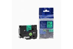 Brother TZ-751 / TZe-751, 24mm x 8m, fekete nyomtatás / zöld alapon, kompatibilis szalag