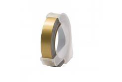 Dymo Omega, 9mm x 3m, fehér nyomtatás / arany alapon, kompatibilis szalag