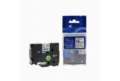 Brother TZ-241 / TZe-241, 18mm x 8m, fekete nyomtatás / fehér alapon, kompatibilis szalag