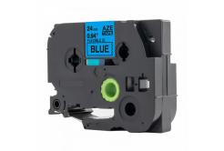 Brother TZ-FX551 / TZe-FX551, 24mm x 8m, flexi, fekete nyomtatás / kék alapon, kompatibilis szalag