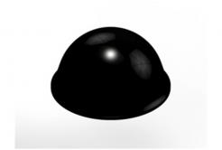 3M Bumpon SJ5017 fekete, plató = 40 db