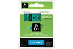 Dymo D1 45809, S0720890, 19mm x 7m, fekete nyomtatás / zöld alapon, eredeti szalag