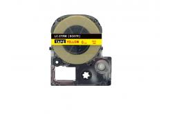 Epson LC-SC6YR, 6mm x 8m, piros nyomtatás / sárga alapon, utángyártott szalag