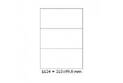 Öntapadós címkék 210 x 99 mm, 3 db / A4, 100 lap