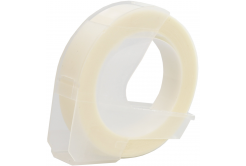 Dymo Omega, 9mm x 3m, fehér nyomtatás / átlátszó alapon, kompatibilis szalag
