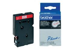 Brother TC-292, 9mm x 7,7m, piros nyomtatás / fehér alapon, eredeti szalag