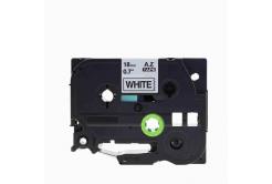 Brother TZe-V241, 18mm x 5,5m, fekete nyomtatás / fehér alapon, vinyl, kompatibilis szalag