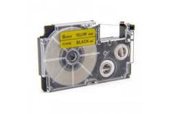 Utángyártott szalag Casio XR-6YW1, 6mm x 8m fekete nyomtatás / sárga alapon