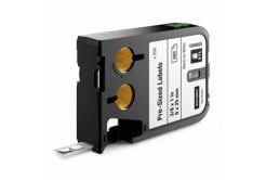 Dymo XTL 1868669, 9mm x 25mm, 250db, fekete nyomtatás / fehér alapon, eredeti szalag