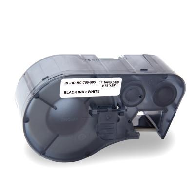 Brady MC-750-595-WT-BK / 143372, Labelmaker Tape, 19.05 mm x 7.62 m, fekete nyomtatás / fehér alapon, kompatibilis szalag