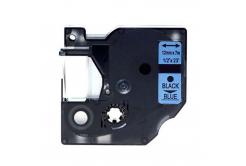Dymo 45016, S0720560, 12mm x 7m fekete nyomtatás / kék alapon, kompatibilis szalag