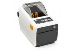 Zebra ZD410 ZD41H22-D0EE00EZ címkenyomtató, 8 dots/mm (203 dpi), MS, RTC, EPLII, ZPLII, USB, BT (BLE), Ethernet, fehér