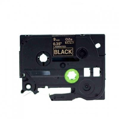 Brother TZ-324 / TZe-324, 9mm x 8m, arany nyomtatás / fekete alapon, kompatibilis szalag