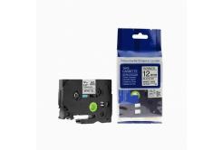 Utángyártott szalag Brother TZ-FX231/TZe-FX231, 12mm x 8m, flexi, fekete nyomtatás / fehér alapon