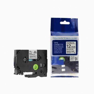 Brother TZ-FX231/TZe-FX231, 12mm x 8m, flexi, fekete nyomtatás / fehér alapon, kompatibilis szalag