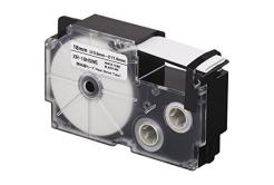 Utángyártott szalag Casio R3.5WE 6mm x 2,5m zsugorcső, fekete nyomtatás / sárga alapon