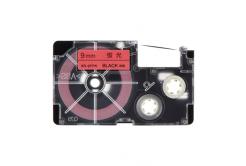 Casio XR-9FPK , 9mm x 8m, fekete nyomtatás /fluoreszkáló rózsaszínű alapon, utángyártott szalag
