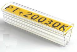 Partex PT+20021A kábeljelölő 21 mm, 100 db,(4,0 10,0 mm), PT átlátszó tok címkékre
