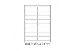 Öntapadós címkék 99,1 x 34 mm, 16 db / A4, 100 lap