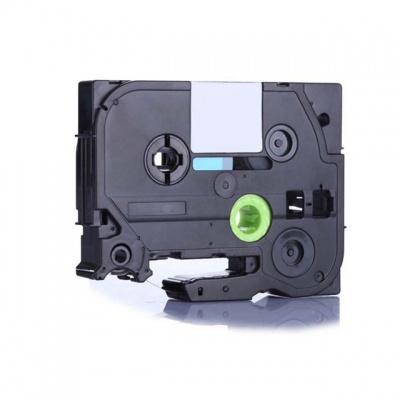 Brother TZ-FX212 / TZe-FX212, 6mm x 8m, flexi, fekete nyomtatás / fehér alapon, kompatibilis szalag