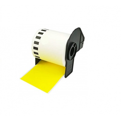Brother DK-22605, 62mm x 30,48m, film, sárga, kompatibilis címketekercs