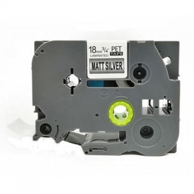 Brother TZ-M941 / TZe-M941, 18mm x 8m, fekete nyomtatás / ezüst alapon, kompatibilis szalag