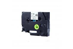 Brother HSe-121 8,8mm x 1,5m, fekete nyomtatás / átlátszó alapon, kompatibilis szalag
