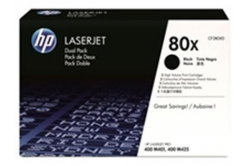 HP 80X CF280XD dualpack fekete (black) eredeti toner