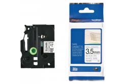 Brother TZE-N201, 3,5mm x 8m, fekete nyomtatás / fehér alapon, eredeti szalag