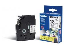 Brother TZ-FX241 / TZe-FX241, 18mm x 8m, fekete nyomtatás / fehér alapon, eredeti szalag