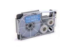 Casio XR-9ABU 9mm x 8m fehér nyomtatás / kék alapon, kompatibilis szalag