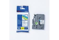 Brother TZ-MQ531 / TZe-MQ531, 12mm x4 m, fekete nyomtatás/kék alapon, eredeti szalag
