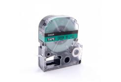 Epson LC-SC6GW, 6mm x 8m, fekete nyomtatás / zöld alapon, kompatibilis szalag