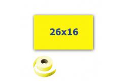 Cenové címkék do kleští, obdélníkové, 26mm x 16mm, 700 db, signální sárga