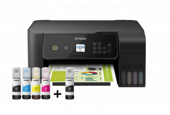 Epson EcoTank L3160, 3v1, A4, 33ppm, USB, Wi-Fi (Direct), LCD panel