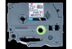 Brother TZ-MPPH31 / TZe-MPPH31, 12mm x 4m, fekete nyomtatás / fehér-rózsaszínű alapon, eredeti szalag