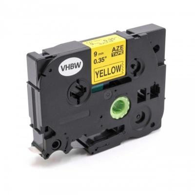 Brother TZe-V621, 9mm x 5,5m, fekete nyomtatás / sárga alapon, vinyl, kompatibilis szalag