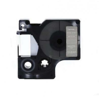 Dymo 53720, 24mm x 7m fehér nyomtatás / átlátszó alapon, kompatibilis szalag