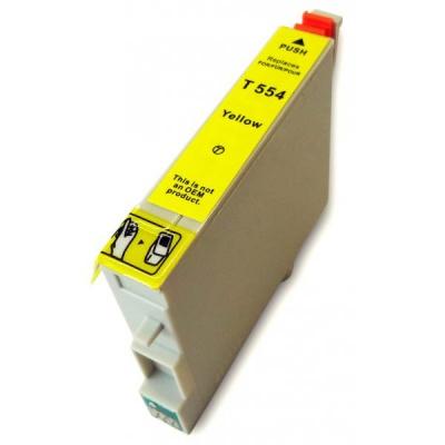 Epson T0554 sárga (yellow) kompatibilis tintapatron