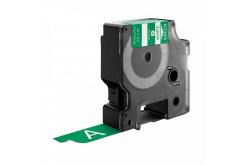 Dymo 1805420, 19mm x 5, 5m fehér nyomtatás / zöld alapon, vinyl, kompatibilis szalag