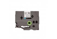 Brother HSe-251 23,7mm x 1,5m, fekete nyomtatás / fehér alapon, kompatibilis szalag