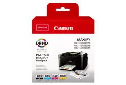 Canon eredeti tintapatron PGI-1500 BK/C/M/Y Multipack, CMYK, 400/3*300 oldal, 9218B005, Canon MAXIFY MB2050,MB2150,MB2155,MB2350,MB2750,M
