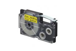 Casio XR-9YW1, 9mm x 8m, fekete nyomtatás / sárga alapon, eredeti szalag