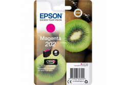 Epson 202 C13T02F34010 bíborvörös (magenta) eredeti tintapatron