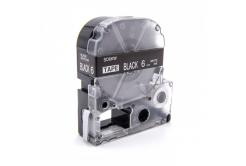 Epson LC-SD6KW, 6mm x 8m, fehér nyomtatás / fekete alapon, utángyártott szalag