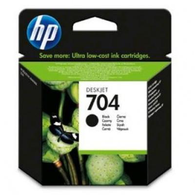 HP 704 CN692AE fekete (black) eredeti tintapatron