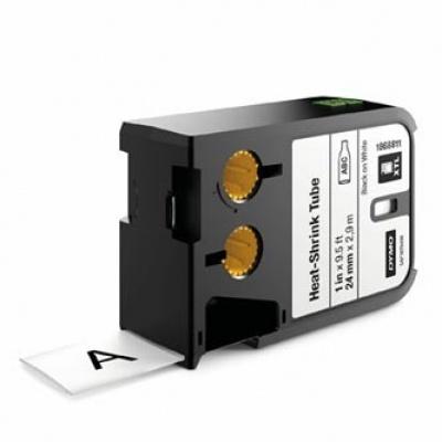 Dymo 1868811, 24mm x 2,7m, fekete nyomtatás / fehér alapon, eredeti szalag