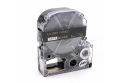 Epson LC-SC6KZ, 6mm x 8m, arany nyomtatás / fekete alapon, utángyártott szalag