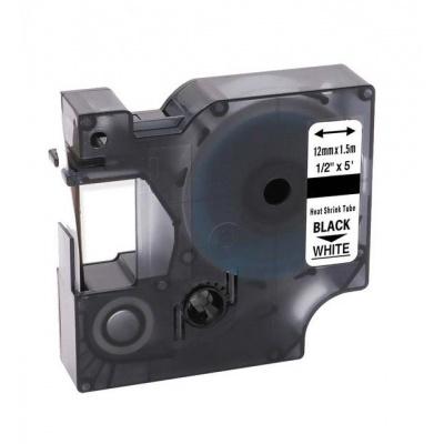 Dymo 18055, S0718300, 12mm x 1, 5m fekete nyomtatás / fehér alapon, kompatibilis szalag