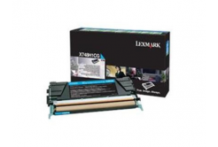 Lexmark X748H1CG cián (cyan) eredeti toner